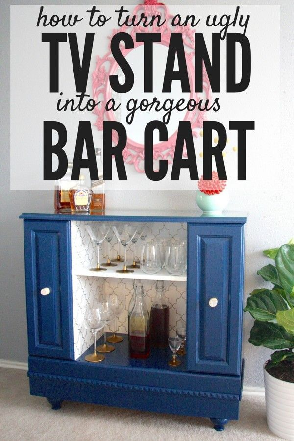 tv stand / bar cart / makeover / furniture / painted / recycled / refurbished