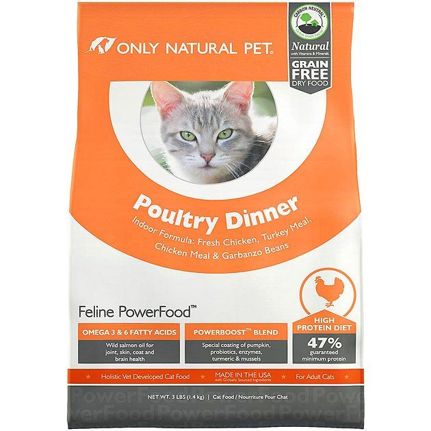 Give Your Feline Friend A Boost Of Power With Only Natural Pet Feline Powerfood Poultry Dinner Cat Food This Indoor Dry Cat Natural Pet Dry Cat Food Cat Food