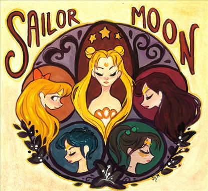 Sailor Moon and Diana Ross & the Supremes' Let the Sunshine In  by Gabby Zapata
