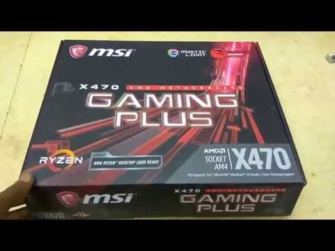 MSI X470 Gaming Plus AMD Motherboard Supports Ryzen AM4 Tech Land