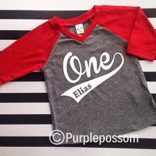 The Perfect Shirt for your little ones Birthday! V Neck  This Raglan features a your child name and age  Please Leave information in the note section at checkout :)  *These do run a size small so be sure to order up a size*   Sleeve Colors Royal Red Navy Black Orange Watermelon Pink     Care: Wash inside out, gentle cycle, and hang dry. Do not iron directly on number always have a protective layer.