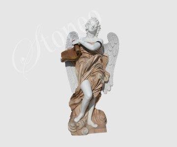 Archanioł - dwukolorowa rzeźba z kamienia