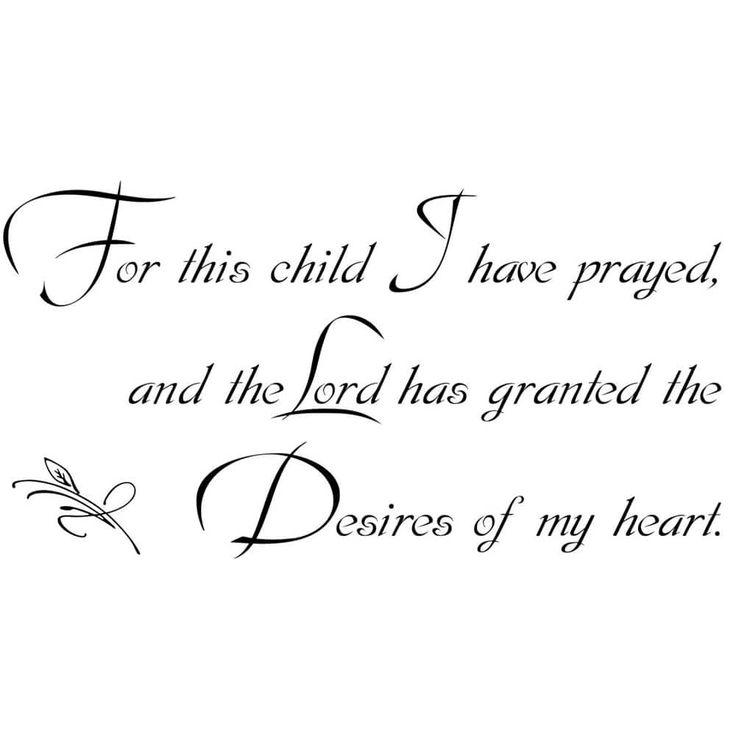For This Child 1 Samuel 1:27 Vinyl Wall Art