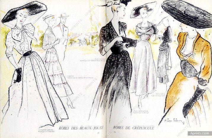 Le Jardin des Modes 1948 N°317, Christian Dior, Schiaparelli, Marcelle Chaumont, Maud Roser, Jeanne Lafaurie, Lelong, Mad Carpentier