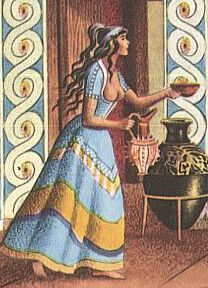 Illustration of a Minoan woman.