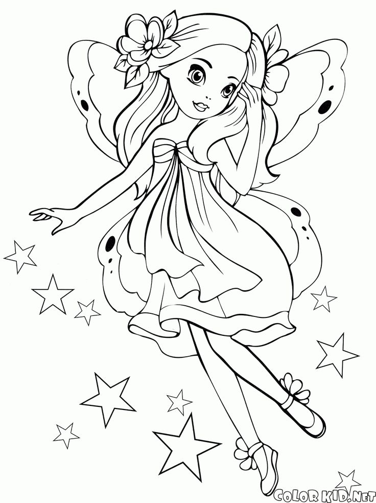 The free coloring pages 'For girls' will introduce ...