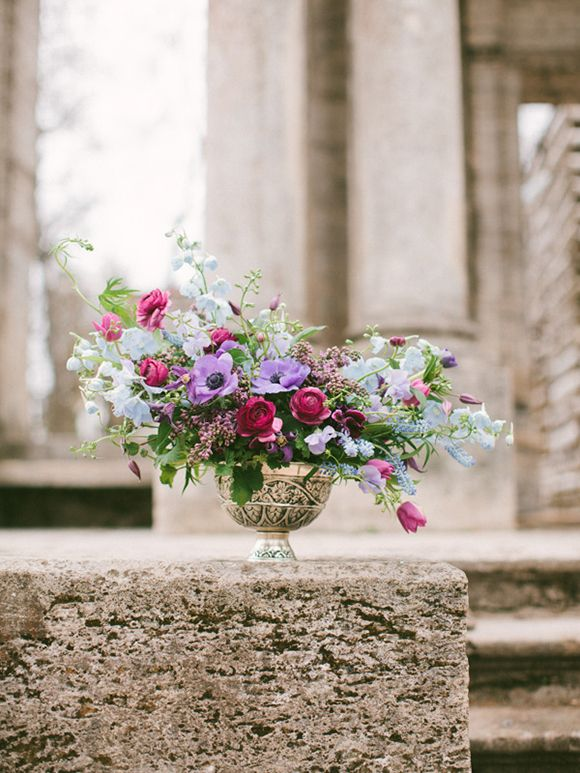 Blue and Berry Wedding Inspiration by Anastasiya Belik, with flowers from Marina Shentyapina
