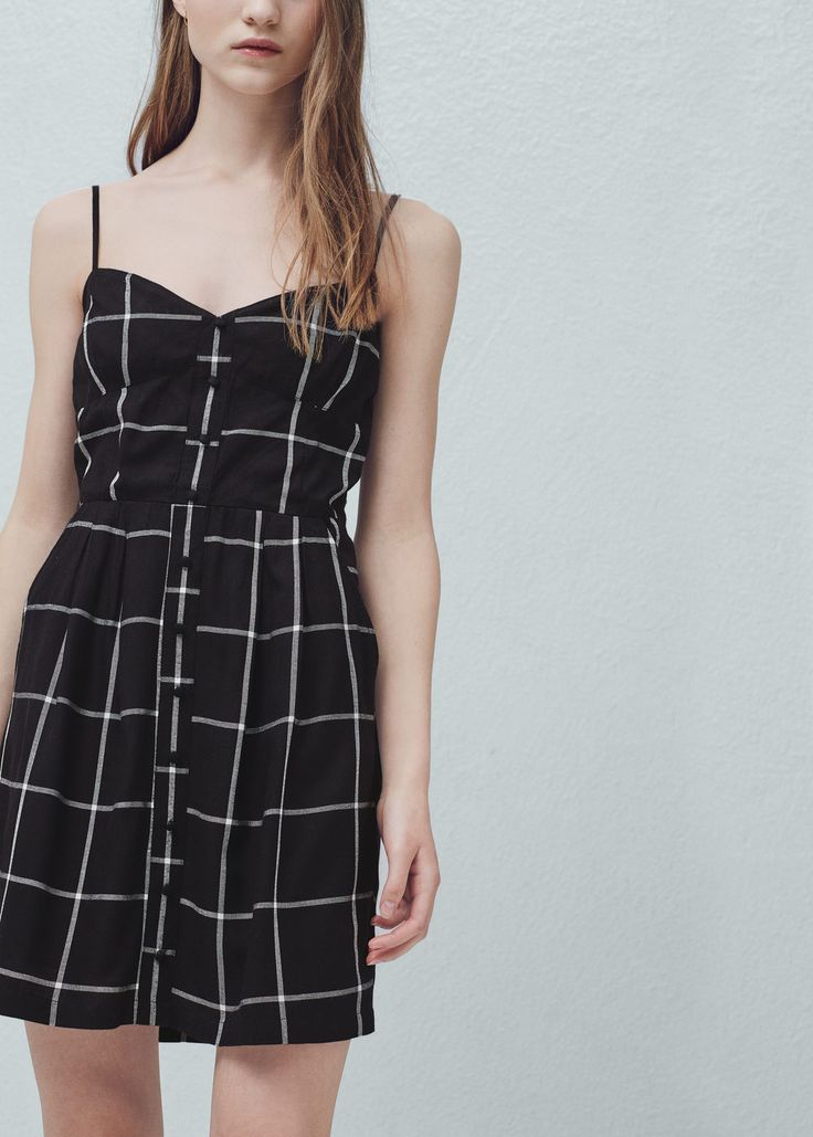Check dress - Dresses for Woman   MANGO