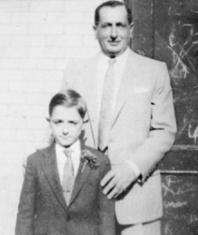 "Genovese family power Peter DeFeo was known as ""The Mayor of Little Italy"". A trusted friend and confidant of Vito Genovese. Photographed here with nephew Frank ""Butch"" Aquilino, an actor who went on to have bit parts in movies like Goodfellas."