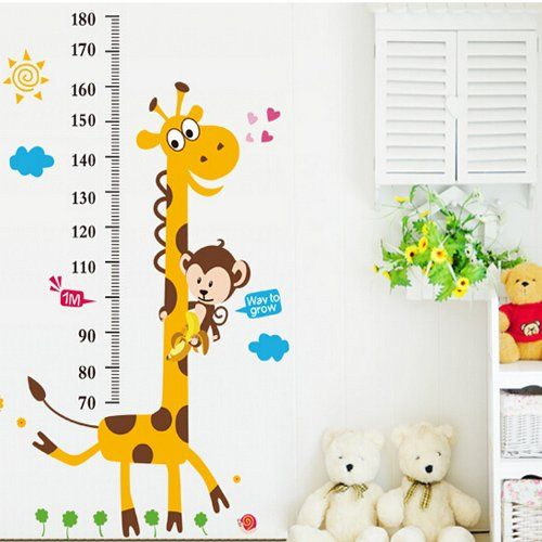 "36"" X 72"" Growth Chart Giraffe Monkey Height Chart Wall Vinly Decal Decor Sticker Removable,Super for Nursery Playroom Girls and Boys Children's Bedroom ieasycan http://www.amazon.com/dp/B00UHHL776/ref=cm_sw_r_pi_dp_28W-vb17KJYF0"