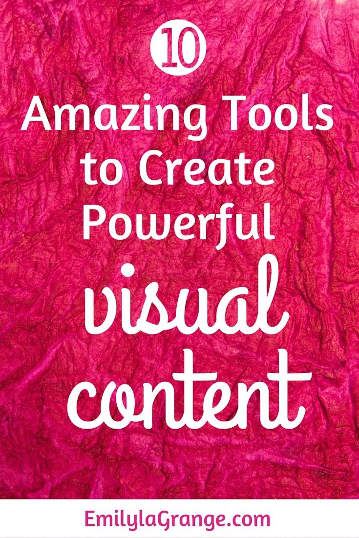 Do you know the power that visual content has to play in social media, blogging and marketing success? That's right – if you haven't already embraced visual content marketing – it's time to get VISUAL