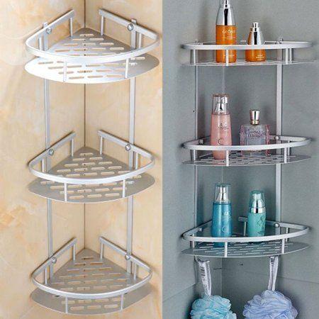Bathroom Storage Rack Wall-mounted Shower Soap Shampoo Holder Space Aluminum Wal