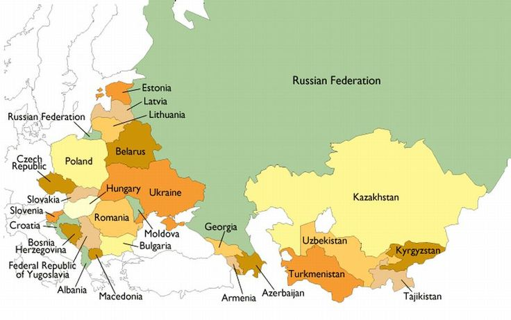 Mapa Ex URSS