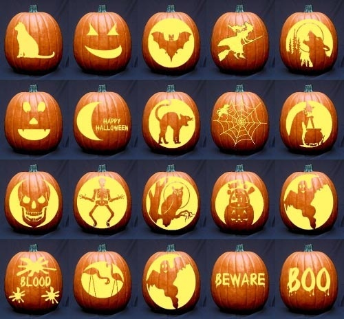 free pumpkin carving stencils templates patterns ideas halloween - Halloween Pumpkin Faces Ideas