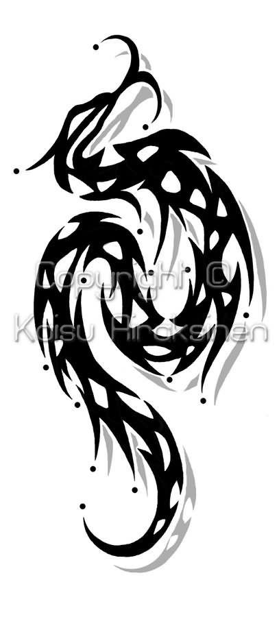 Tribal Snake Tattoo Style