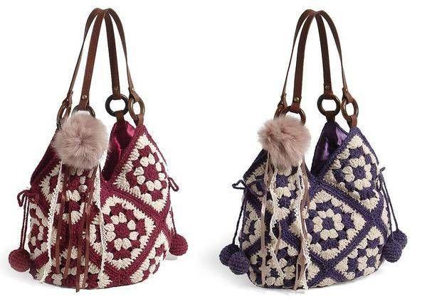 en güzel el işi örgü çanta modelleri