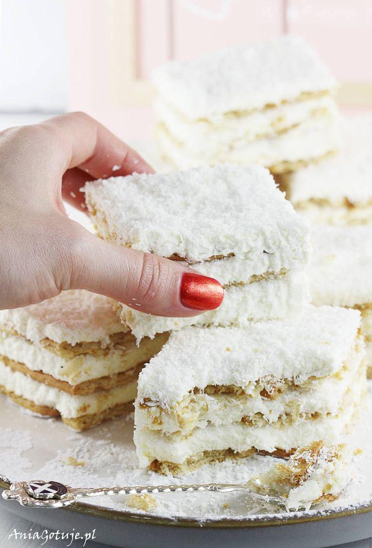 Proste ciasto rafaello bez pieczenia, 10
