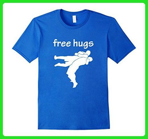 Mens MMA wrestling grappling suplex free hugs shirt Medium Royal Blue - Sports shirts (*Amazon Partner-Link)
