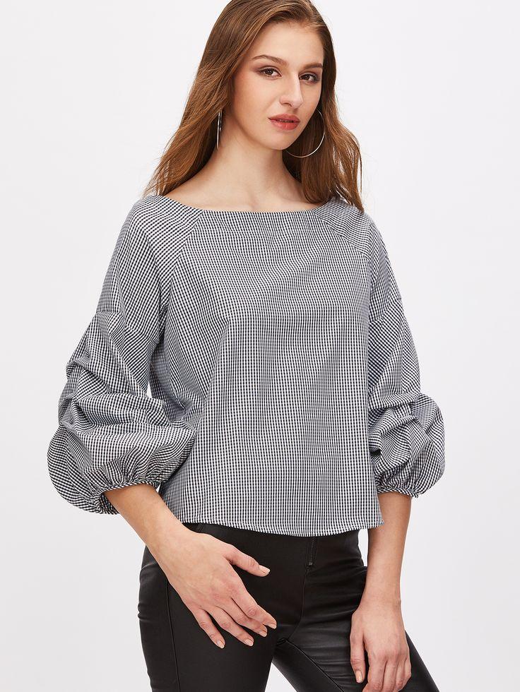 gingham blouse