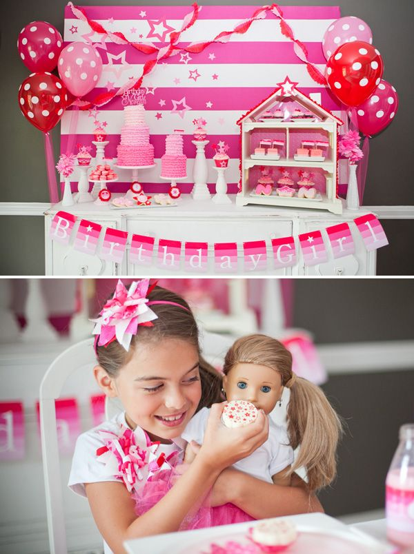 American Girl Doll Inspired Party {Pink & Ombre!}