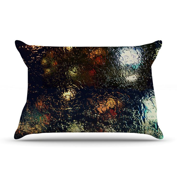 """Robin Dickinson """"Blinded"""" Water Black Pillow Case"""