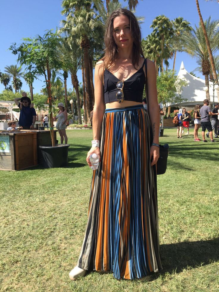 @5forecastore original pics from coachella 2016 long skirt matched with cropped and bare midriffs