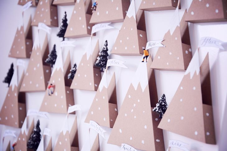 Rotkehlchen: DIY: Mountain Landscape Advent Calendar