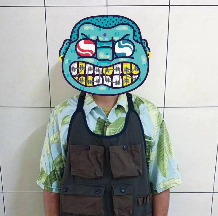 remember my name.and my face #zook #zookgogreen #chillinboysclub #lifegoeson #illustration #gogreen #local #acrylicpaint #real #shit #gangster #marlboro #kaohsiung #chillin #gangboy #street #arcadeartgallery