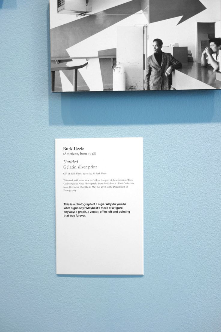 exhibition label - Project Projects