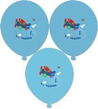 1 yaş partileri için vazgeçilmez dekor 1. Yaş Günü, Mavi Balon 25'li