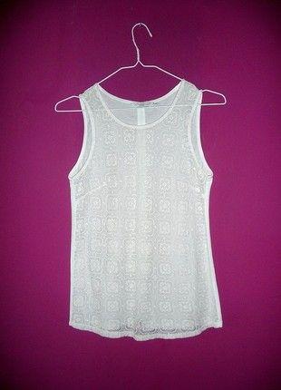 Kup mój przedmiot na #vintedpl http://www.vinted.pl/damska-odziez/bluzki-bez-rekawow/10890779-new-look-xs-s-koronkowa-bluzka-top-z-guzikami-na-plecach-biala-nude-koronka-elegancka-sexy-sliczna