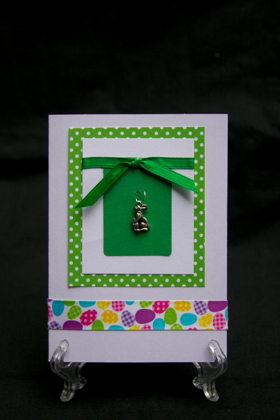 Easter Blank Homemade Card by ACharmingNoteCard on Etsy