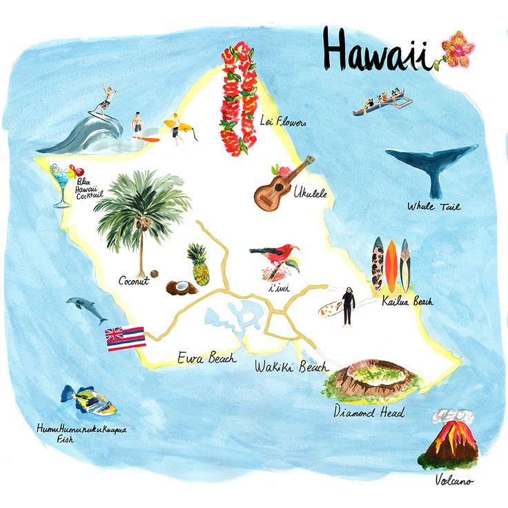 Cassandre Montoriol - Map of Hawaii