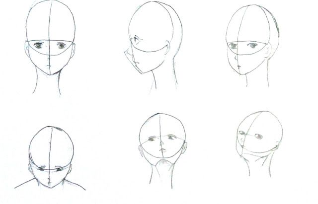 manga head perspective