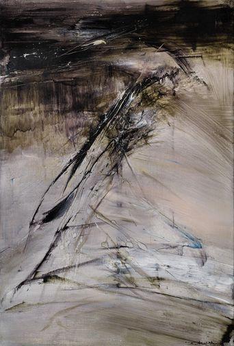 Zao Wou-ki (1920-2013), « 1.12.64″, estimation: 1 à 1,5 million d'euros, Vente Sotheby's 3 décembre 2013.