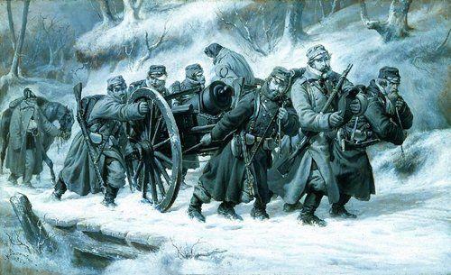 Niels Simonsens ikoniske maleri af tilbagetoget fra Dannevirke