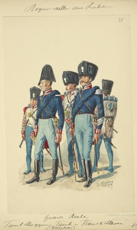 Italy. Kingdom of the Two Sicilies Ferdinand 1st, 1815-1825