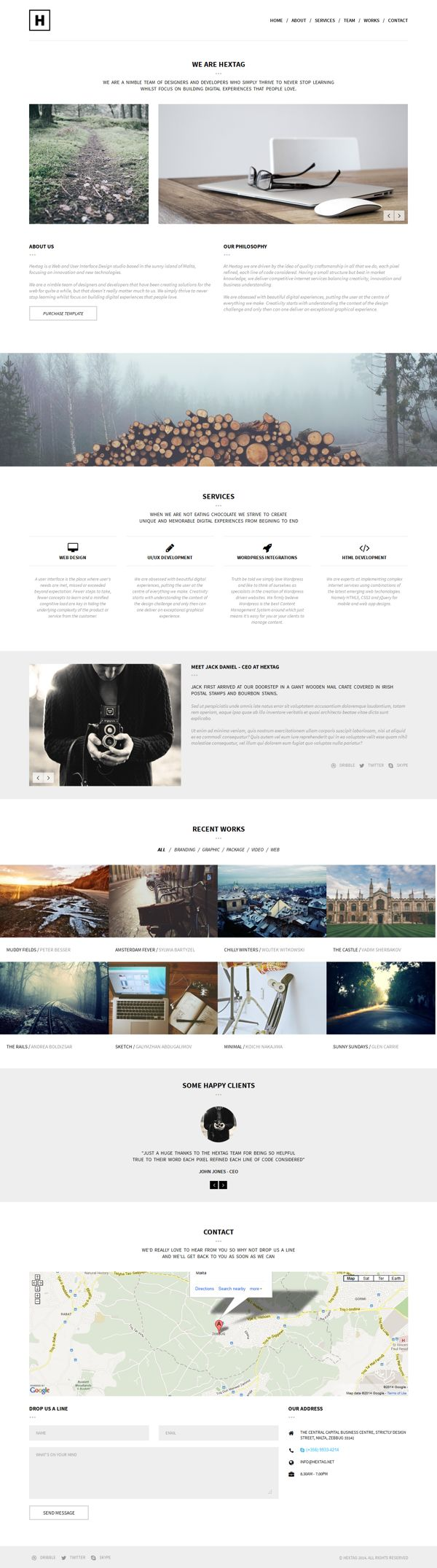 H - Minimal Theme (Apple Style) by WordPress Design Awards, via Behance