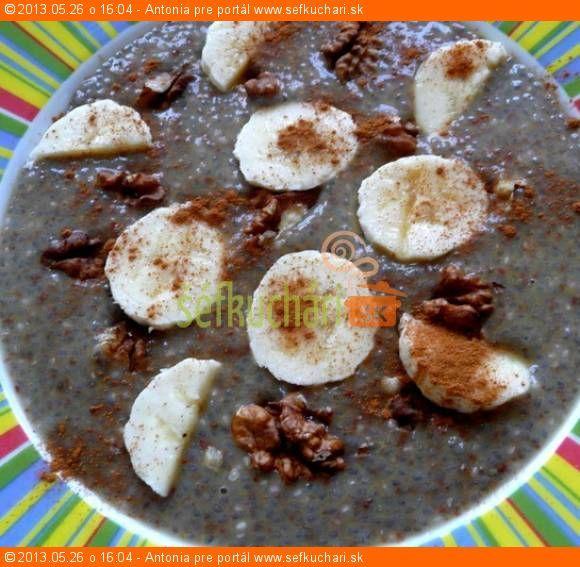 Chia kaša so škoricou a orechmi - recept na 1 hlboký tanier Tento recept Vám dáva do pozornosti: Šéfkuchári.sk
