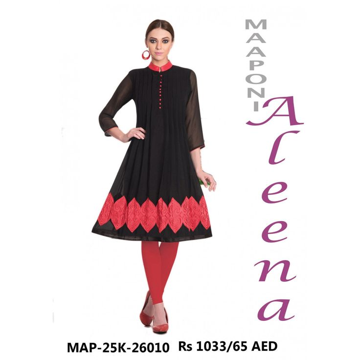 Aleena Series Georgette Kurti Material :Georgette Colour : As Shown Nature of Work: NA Time to Ship : 12-15 Days Shipping Charge : Free Shipping to all over India Occasion :Da
