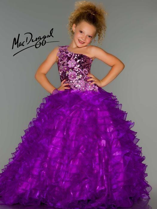 White black purple girl dress