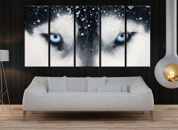 Canvas prints add a unique touch to your home. Modern, stylish and unique design will be the most special piece of your decor. Especially for those who like abstract works, black and white acrylic painting can be prepared in desired sizes  Large wolf eyes wall art for living room, wild animal canvas print extra large wall art, canvas art, modern art print for wall decor 8s87  ◆ GALLERY WRAPPED CANVASES We print high quality printer on canvas. 3 cm thick (depth) stretcher bars, side covered…