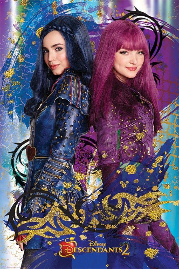 Descendants Evie Mal Maxi Poster Disney Descendants Disney Descendants 2 Disney Decendants