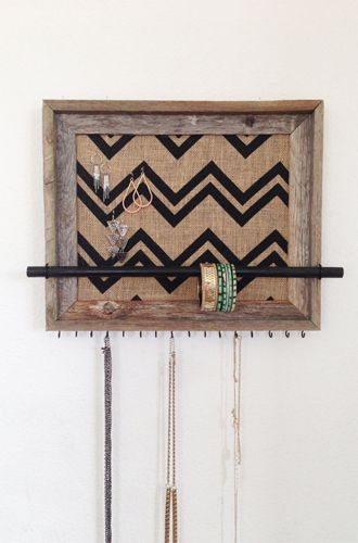 7 Jewellery Storage Boxes & Ideas: After the Leaves Fall Barn Wood Jewelry Organizer from Etsy.