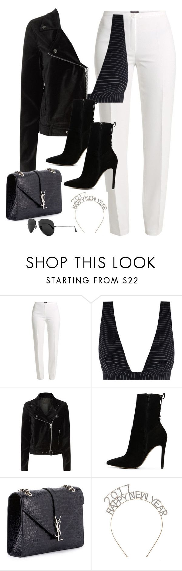 """""""Untitled #2919"""" by magsmccray ❤ liked on Polyvore featuring Basler, Zimmermann, Paige Denim, ALDO, Yves Saint Laurent and Ray-Ban"""