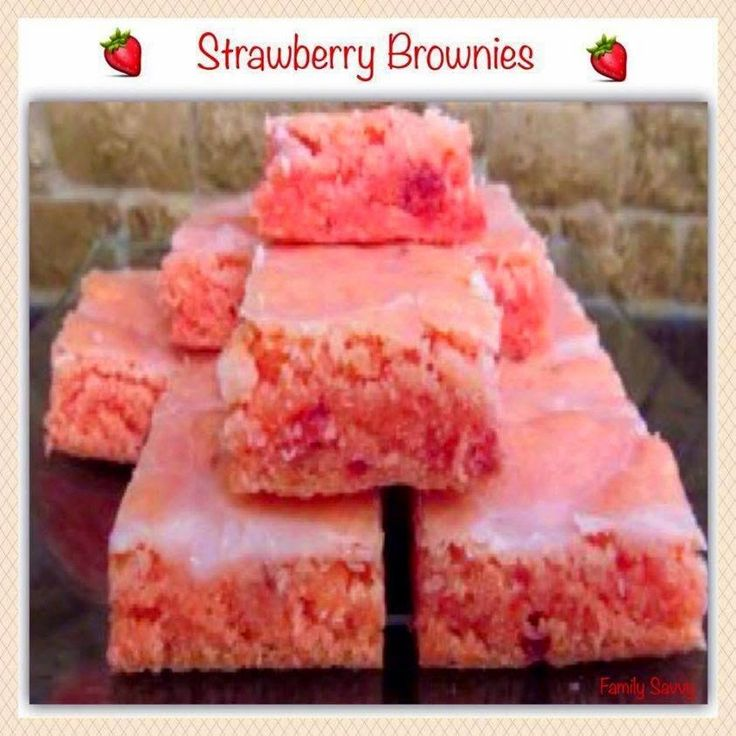 SWEET TREATS: STRAWBERRY BROWNIES
