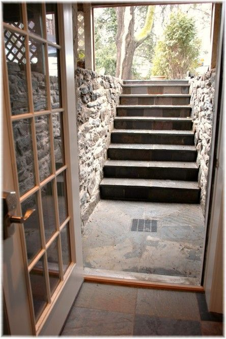 14 best outside basement stairs images on pinterest for Does a walkout basement cost more