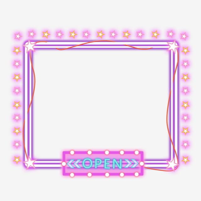 Neon Stars Purple Colorful Border Neon Frame Colorful Png Transparent Clipart Image And Psd File For Free Download Colorful Borders Hologram Colors Clip Art
