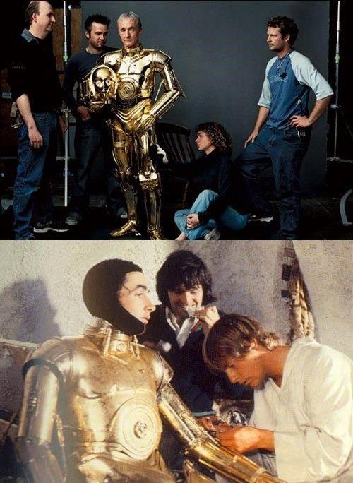 C3PO Anthony Daniels é um ator inglês de mímica. Sua experiência em expressão corporal foi essencial para a construção do personagem C3PO, da saga Star Wars.