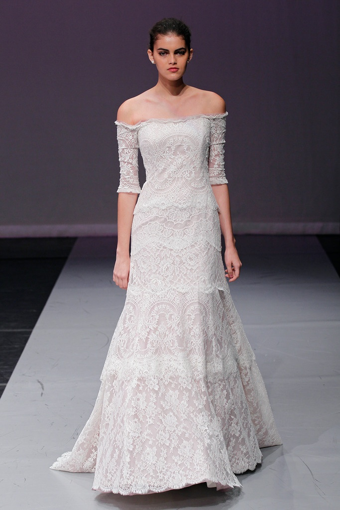 Off-the-shoulder #wedding #gown by Rivini by Rita Vinieris